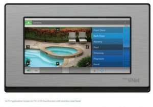 A cctv control screen for cameras around a house, from 3vNet