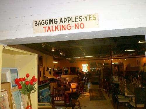 An Antique shop, formerly an apple factory