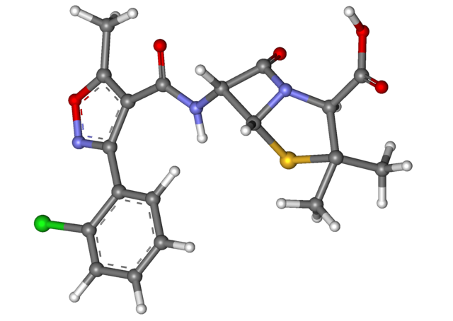 cloxacillin molecule diagram