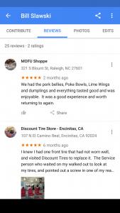 Google-Timeline-Reviews
