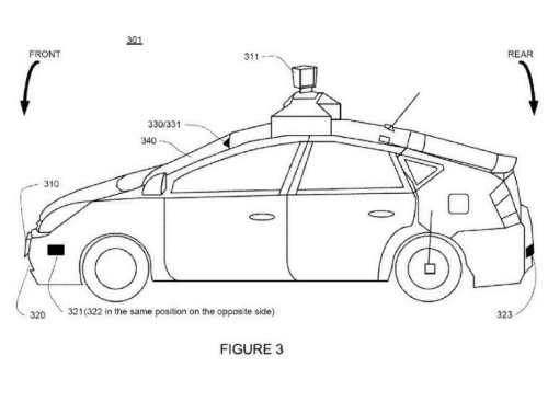 Google Granted Patent on How Self-Driving Cars Might Handle Tailgaters