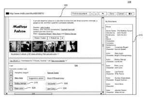 A screenshot of the data markup tool from the patent.