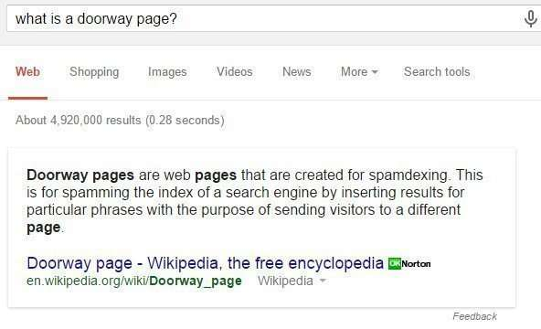 Google recently announced they they would be launching a new algorithm aimed at fighting link schemes using doorway pages.