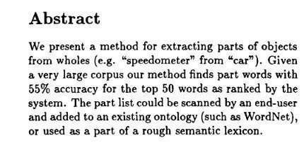 "From ""Finding parts in very large corpora."""