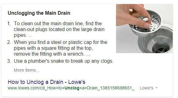 From the query, 'How to fix a clogged sink.'