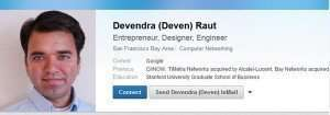 LinkedIn Profile from CiiNow Co-Founder
