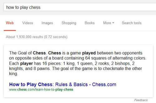 How to Play Chess Results