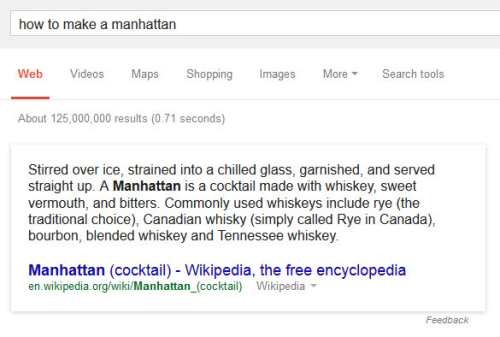 How to Make a Manhattan Results