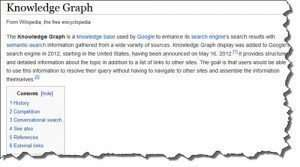 Wikipedia knowledge graph entry