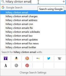 Hillary clinton email query suggestionss