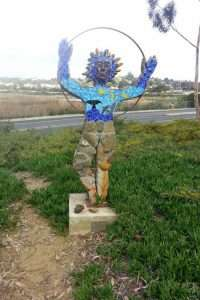 An image from a local park in Carlsbad symbolizing the Sun.