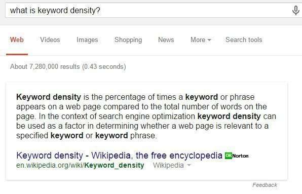 What is Keyword Density?