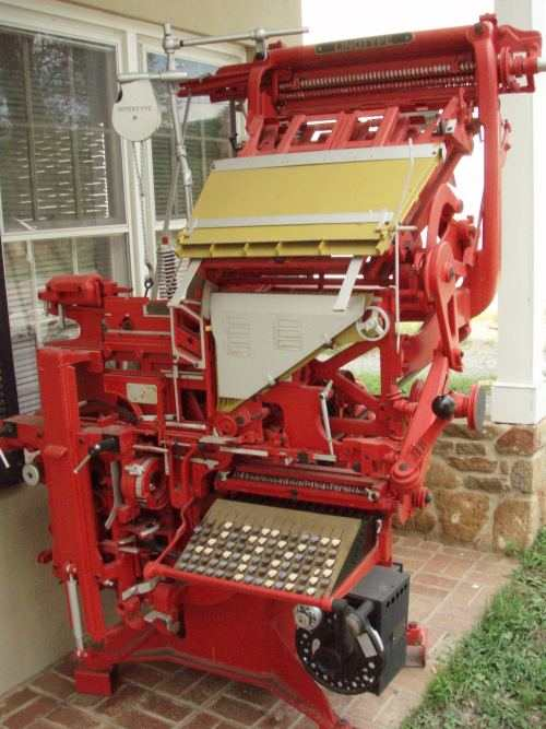An old Linotype type setting machine that had possibly more moving parts when it was built than anything else.