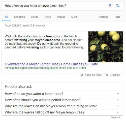 Google Related Questions now use a Question Graph