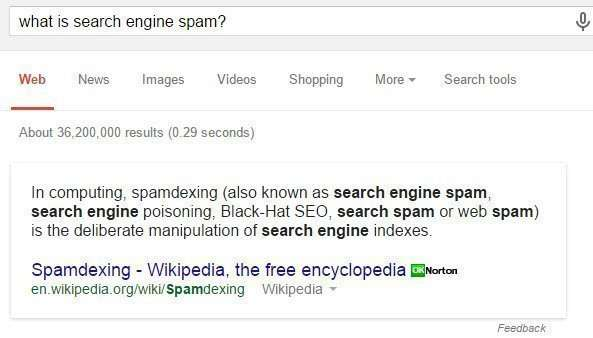 "As SEOS, we are often concerned with how Google migh define ""Search Engine Spam"" - something we want to avoid if possible."