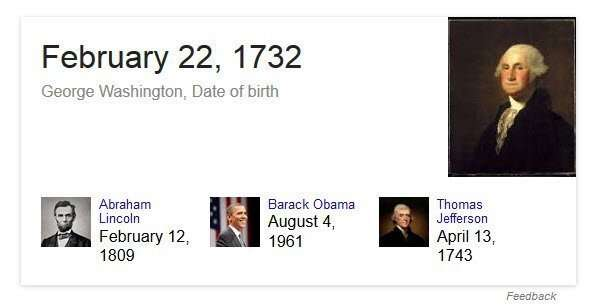 Google answering a direct question with a factual answer.