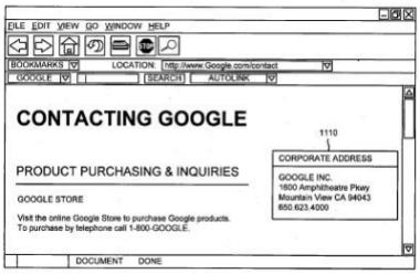 A browser window, with a Google Autolink button from the patent application.