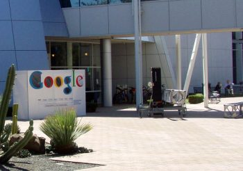 The entrance to one of Google's buildings