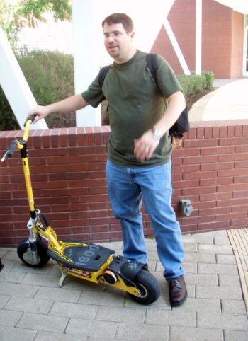 Matt Cutts showing us a Google Scooter