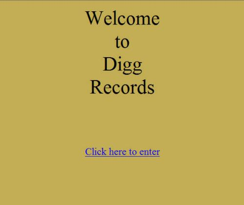 The Digg.com homepage as it appeared on November 11, 1998 - home of Digg Records.