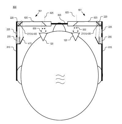 A image from the patent application showing images sent to a mirror to generate a scan of an image.