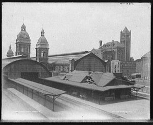 Union Depot, Toronto, circa 1890 and 1901, via Library of Congress, reproduction number LC-D4-12741