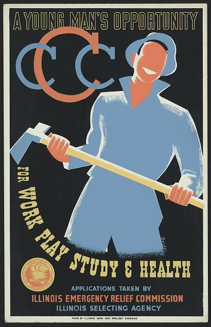 A poster promoting the U.S. Civilian Conservation Corps.