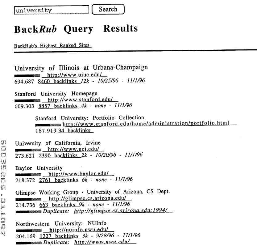 First PageRank Patent