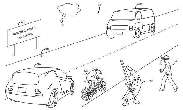 Augmented Reality displayed in Microsoft's Patent, 'Mixed reality display accommodation'
