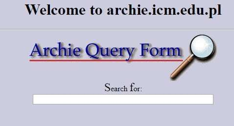 first search engine - archie