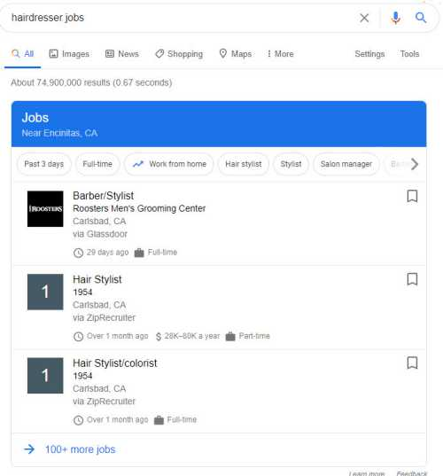 job search example