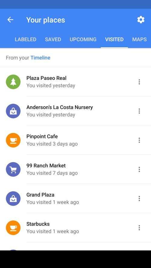 Google's Mobile Location History