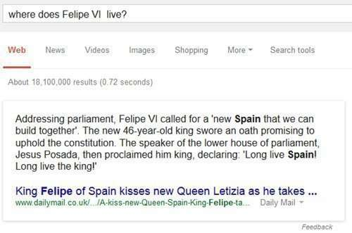 Google doesn't have much information on this relatively recently crowned king of Spain.
