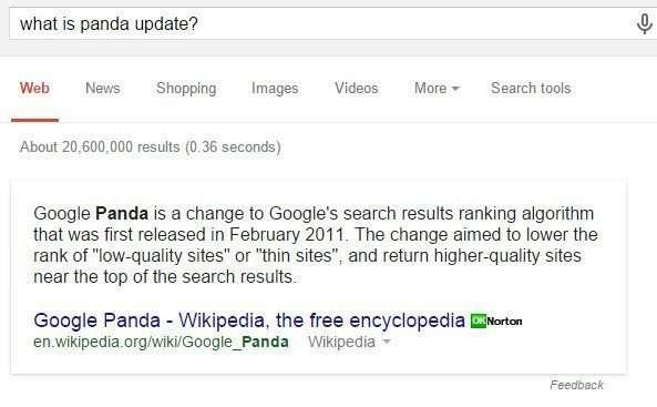 Google's Panda Update