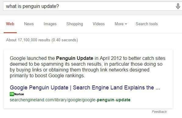 Google's Penguin Update