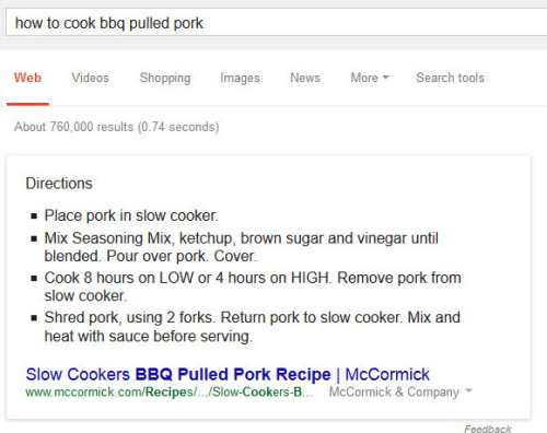 google pulled pork
