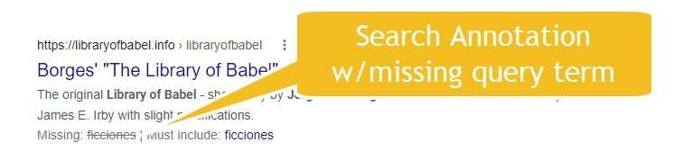 Search Annotation with Missing Query