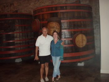 Barry and Donna, my gracious hosts on a tour of Sonoma Valley