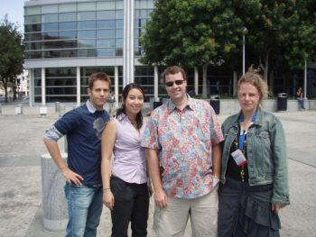 Some of my companions on a tour of the Googleplex