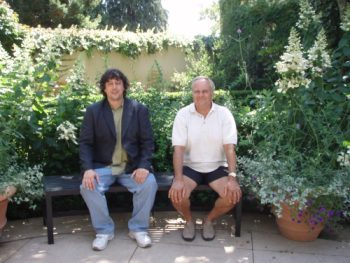 Barry Swain and I relaxing at a winery