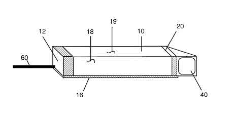 This is a display device from the patent, and it looks similar to the display device in Google Glass patents.