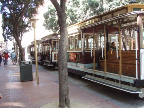 Street cars in San Francisco.