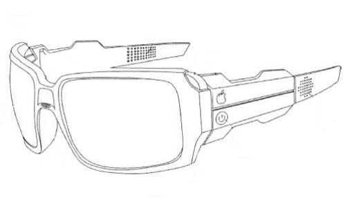 Patent illustration of a pair of goggles that are a wearable computing device.